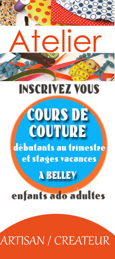 cours et stage de couture débutants adultes endants ado à belley par crapule factory